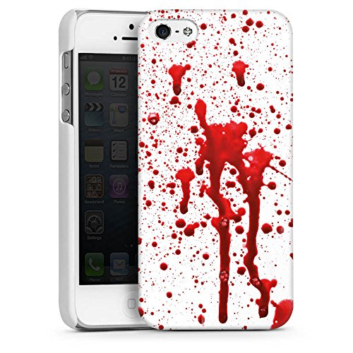 Apple iPhone SE Housse Outdoor Étui militaire Coque Sang Halloween Gothique CasDur blanc