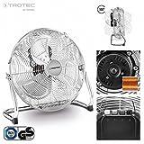 TROTEC TVM 14Kühlventilator Flur | 70W LEISTUNG | 35cm Durchmesser | 3-Stufen Geschwindigkeit | chrom | mit Griff-Design