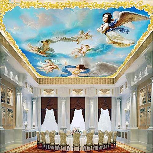 Cucsaistat Wallpaper 3D Mural Oberdecke Mauer Tapete/Malerei Westeuropa Blauer Himmel Machen Engel Fototapete