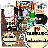 I love Duisburg | Geschenk Männer | Geschenk Box | I love Duisburg | Männer Set | Geschenke für Duisburg Liebhaber | Duisburg Geburtstag Geschenk | inkl. DDR Kochbuch