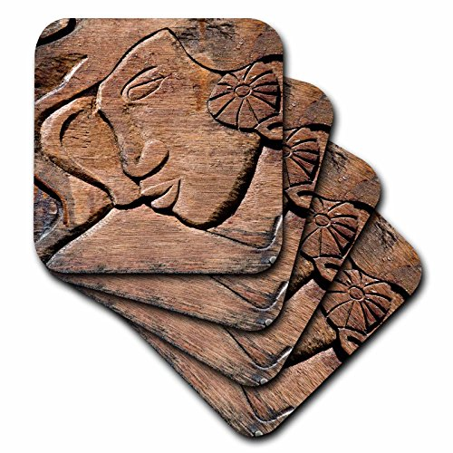 Danita Delimont–Polynesische Kultur–French Polynesische Holz Tür Carving–OC13jse0012–Jan & Stoney Edwards–Untersetzer, Gummi, set-of-8-Soft