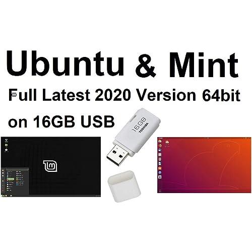 Ubuntu Linux 16.04 e Linux Mint 18 Sistema operativo completo e software su USB - 32 e 64 bit.
