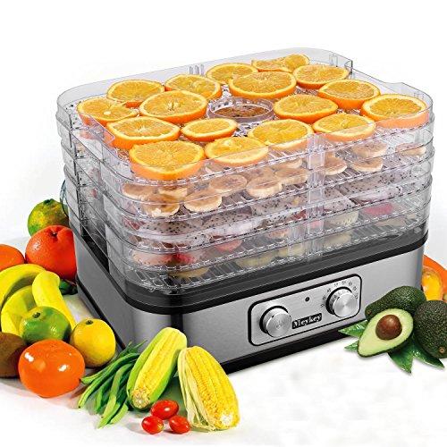 # Meykey Essiccatore di frutta e verdura,Disidratatore Temperatura regolabile,5 Piani,250W,BPA Free,Nero prezzo