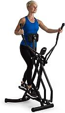 Klarfit Bogera X Crosstrainer mit Trainingscomputer • Air Walker • Heimtrainer • LCD-Display • einstellbares Bauchpolster • klappbar • max. 100 kg Gewicht • schwarz