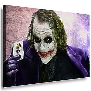boikal leinwand bild joker film batman heath ledger leinwanddruck kunstdruck fm31