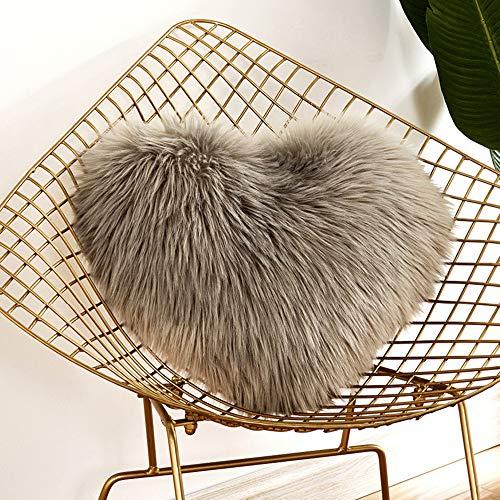 TianranRT Herz geformt werfen Kissen Kissen Plüsch Kissen Geschenk Zuhause Sofa Dekoration (G) (Quadrat Bett, Kissen)