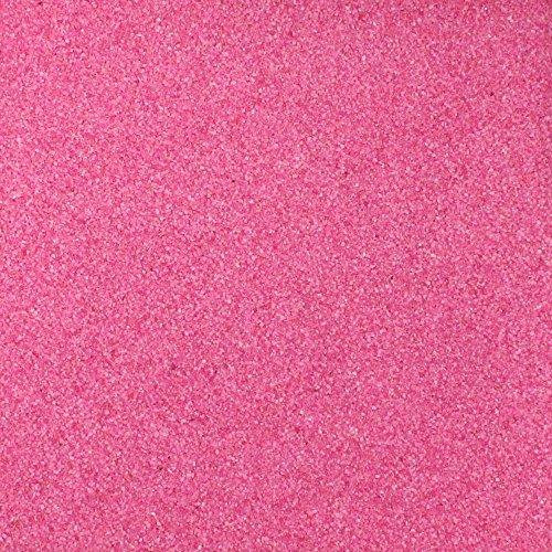 Farbsand, Dekosand farbig ca 0,5 mm. 1 KG in rosa PINK -13 (Pink Sand)