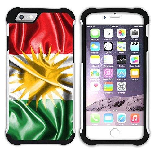 Graphic4You Kurdistan Kurdisch Flagge Hart + Weiche Kratzfeste Hülle Case Schale Tasche Schutzhülle für Apple iPhone 6 / 6S Design #4