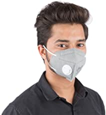 GrinHealth Anti Pollution Foldable Face Mask with Easy Exhalation Valve
