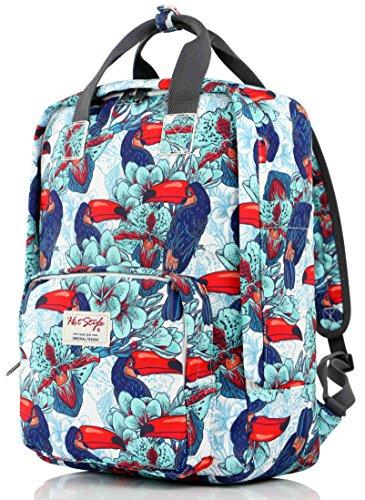 HotStyle-Tucn-Mochila-Colegio-Viaje-Mujer-para-Notebook-14-inch-40x29x14cm