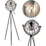 Lampadaire nouveauté flammes Mesh Rétro Lampe à Pied,Ø 34 cm E27 abat-jour grillagé,360°Orientable, Réglable en hauteur ,Lamp