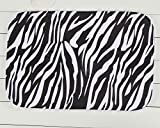 bhdangfds Zebra-Muster Wohnzimmer Küche Teppichboden Teppiche Maschinenwaschbar Rutschfeste 60cm (L) X 40cm (W)