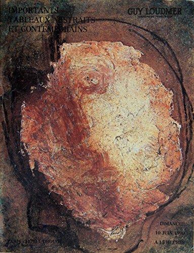 Importants tableaux abstraits et contemporains, dimanche 10 juin 1990 à 15 heures
