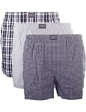 POLO RALPH LAUREN - 3-pack Uomo Boxer Shorts / mutanda / brache (nero grigio bianco)