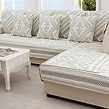 SAFAJINHH Sofaüberwurf,Stickerei Cotton Sofabezug Four Seasons General Simple Moderne Sofakissen Stoff Sofaüberwurf-H 70