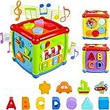 AiTuiTui Cube d'Activités pour Bébé, Centre d'activités Multifonctions 6 en 1 Préscolaire Boîte d'apprentissage sur l'éducati