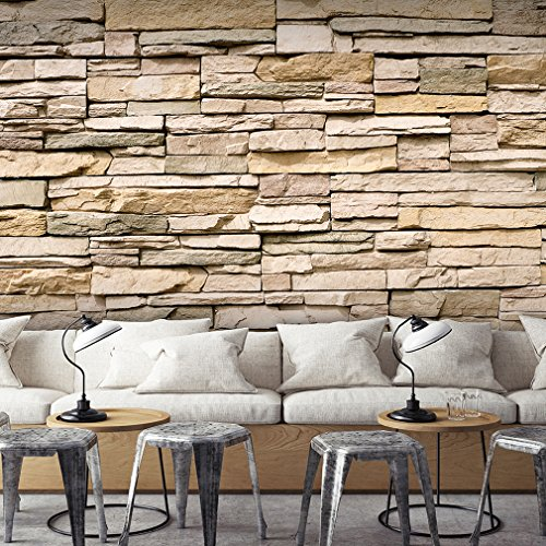 Fototapete Stein Steinwand Steinoptik Braun 350x256 Cm ! | Design Tapete |  Fototapeten | Tapeten | Wandtapete | Moderne Wanddeko | Wand Dekoration ...