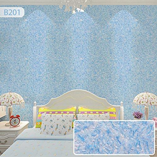 Kleidung Ausgeführt Kinder (JJTLZY Wand-Mantel-Bürsten-Fernsehhintergrund-Wand-Kinder wasserdichtes Wohnzimmer-Schlafzimmer,Pfau-Blau)