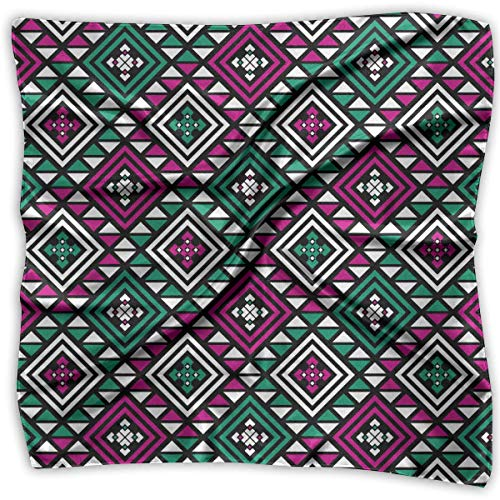 Qinckon Boho with Tribal Aztec Women's 100% Polyester Pocket Square Classic Multi-Function Scarf Hip-pop Headscarf/Headband/Handkerchief Ariat Riding Wear