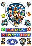 Die besten Paw Patrol 1. Geburtstags-Geschenke für Jungen - essbar personalisierbar Paw Patrol Badge Tortenaufleger Happy Birthday Bewertungen
