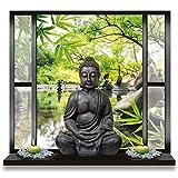 Stickers trompe l'oeil Bouddha