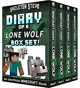 Diary of a Minecraft Lone Wolf BOX SET - 4 Book Collection 1 ...