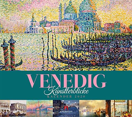 Venedig - Künstlerblicke 2020, Wandkalender im Querformat (54x48 cm) - Kunstkalender / Städtekalender (Impressionismus) mit Monatskalendarium