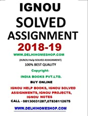 IGNOU DELED 1ST YEAR SOLVED ASSIGNMENTS 2018-19 (ENGLISH) Diploma in Elementary Education (D.El.ED) DELHI HOME SHOP CONTACT-07838112675