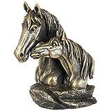 A.G.S. Deko Figur Pferdebüste Büste Pferd Bronze Look Sammlerfigur Dekoration Western