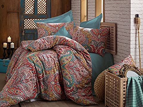 Bedding Set Egyptian 3 Pieces Mandala Hippie Gypsy Nirvana Yoga Indian Paisley Damask Queen Duvet Quilt Cover Luxury Oriental Vintage Green Indian Ethnic Double Namaste Ayurveda Chakra Karma Psychedelic Ombre Circle of Flowers Bohemian Lotus Boho