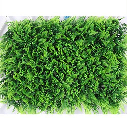 NACOLA 40x 60cm erba artificiale falso TURF prato tappeto spesso erba sintetica erba artificiale Leaf recinto privacy Screen siepe verde, pannelli falso pianta da parete per Pet Outdoor indoor # 11