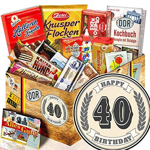 40 Geburtstag | DDR Produkte | DDR Süßigkeitenbox