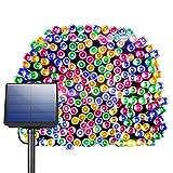 litom Guirlande solaire, guirlande LED, solaire Guirlande lumineuse, multicolore, 200LED 72,18ft extérieure étanche Décoration avec 8travail pour jardin, maison, fête, Noël, intérieur et extérieur Multicolore