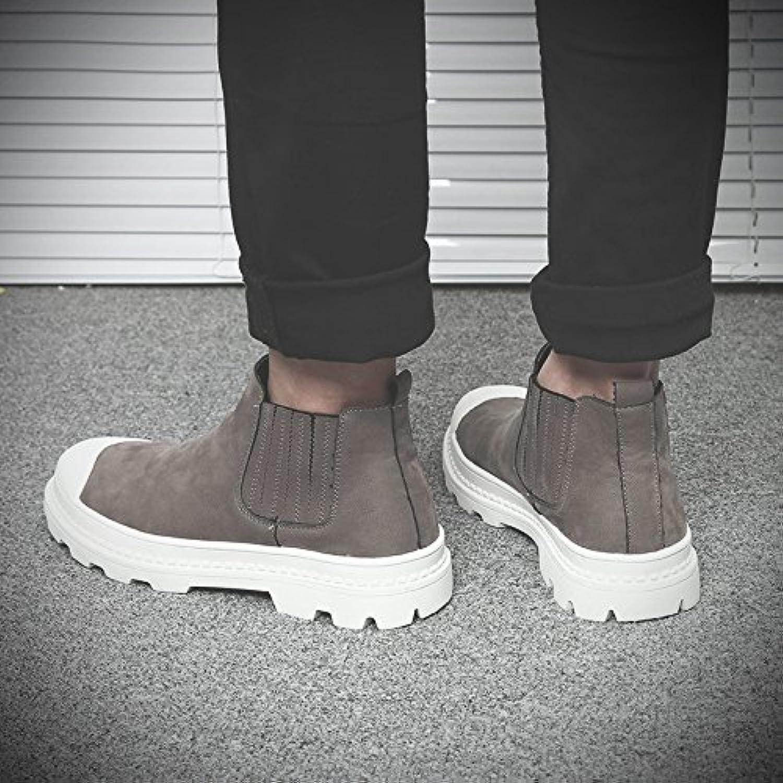 HL-PYL-Martin botas altas de cabeza redonda macho Zapata botas en versión coreana,42,gris