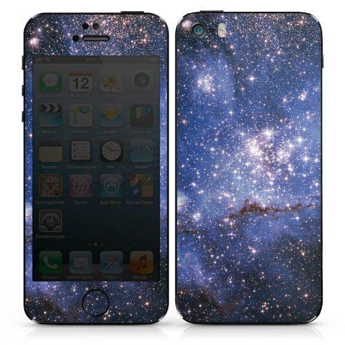 Apple iPhone SE Case Skin Sticker aus Vinyl-Folie Aufkleber Galaxy Muster Space DesignSkins® glänzend