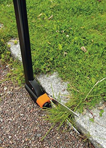 Fiskars Rasenkantenschere Servo-SystemTM mit Stiel GS46, Schwarz&Orange -