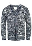Redefined Rebel Miles Herren Strickjacke Cardigan Feinstrick Mit V-Ausschnitt und Knopfleiste Aus 100% Baumwolle, Größe:XXL, Farbe:Navy