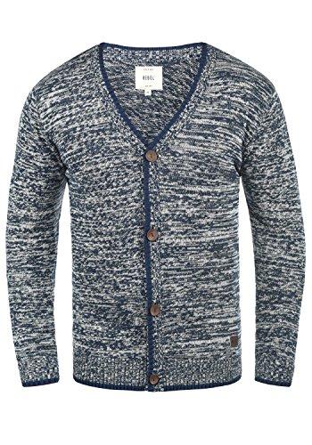 Redefined Rebel Miles Herren Strickjacke Cardigan Feinstrick Mit V-Ausschnitt und Knopfleiste Aus 100% Baumwolle, Größe:XL, Farbe:Navy -