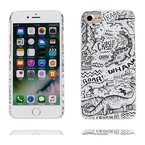 Custodia iPhone 7 Plus , iPhone 7 Plus copertura (5.5 pollici) | Gel durevole TPU morbido protettivo Case posteriore Stars Polvere anti shock | Nero Marte # 4