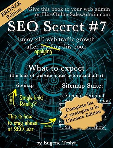 SEO Secret #7 (Bronze Edition): Turn you original sitemap into seven proven traffic magnets