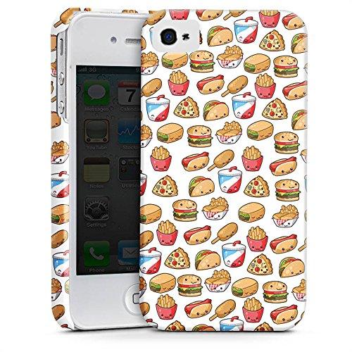 Apple iPhone X Silikon Hülle Case Schutzhülle Hamburger Pommes Pizza Premium Case glänzend