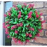 Best Artificial Boule de fleurs artificielles Rose 30 cm