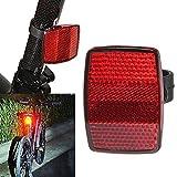 TianranRT Lenker Halterung Safe Reflektor Fahrrad Fahrrad Vorne Hinten Warnung Rot/Weiß Neu (Rot)