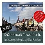 Danimarca Garmin Topo 4GB microSD. topogra pesci GPS tempo libero carta per bicicletta da trekking, escursioni trekking Geocaching & Outdoor. dispositivi di navigazione, PC e Mac