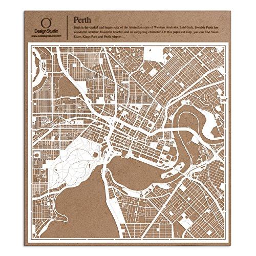Karte, Weiß 30x30 cm Papierkunst ()