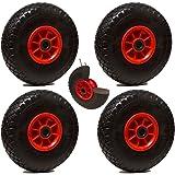 LOT de 4x roue increvable diable 260 x 85 (3.00-4) alésage 20 mm roulement à rouleaux