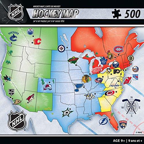 NHL Keine Team Masterpiece Kunstnägel 61x 45,7cm Sport Map Puzzle (Rätsel Map)