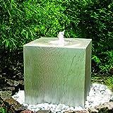KÖHKO Quellenbrunnen Cube 50 x 50 x 50 cm 26007 Springbrunnen mit PE-Becken