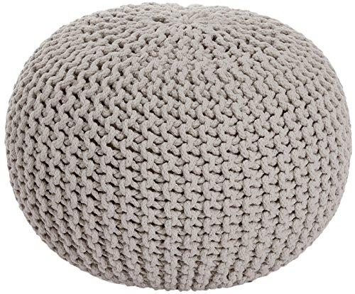 ANTARRIS Sitzhocker Sitzpuff Bodenkissen Ø 55 cm ver. Farben Baumwolle beige