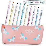 Penne per Unicorno Ragazze Regalo di Compleanno per Bambine, VSTON Simpatiche penne per unicorno Set per penne a sfera Lattin